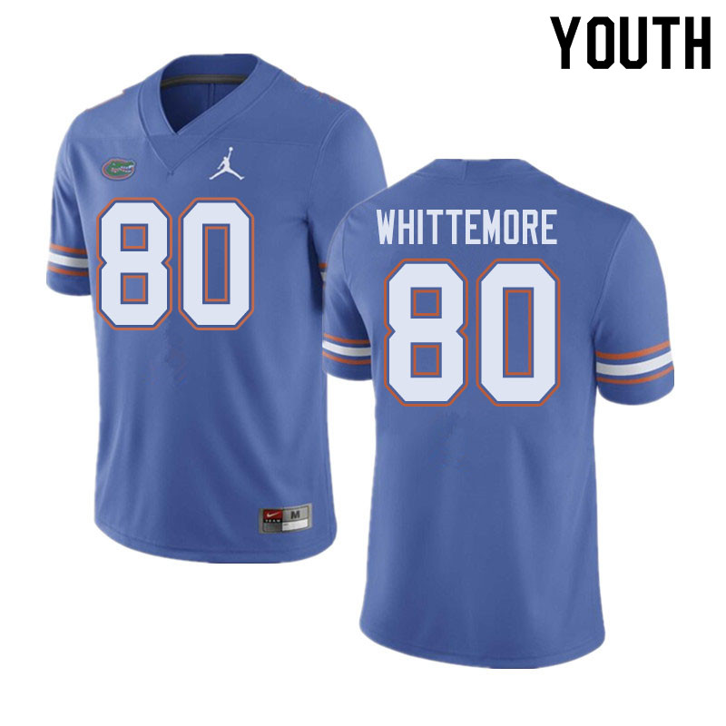 Jordan Brand Youth #80 Trent Whittemore Florida Gators College Football Jerseys Sale-Blue